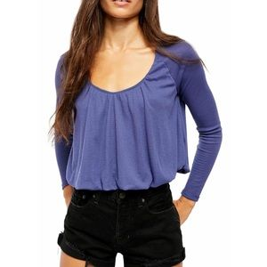 Free People NWT Bondi Thermal Top XL True Blue